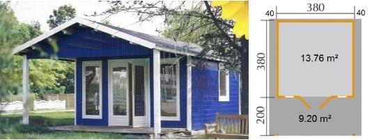 Chalet BRANSON.2 - 13.76 m² Habitables avec baies vitrées ...